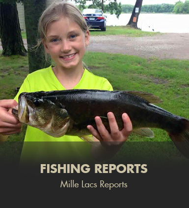 Camp holiday local area activities for Mille lacs fishing