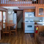 Cabin 11 kitchen and dinning area full kitchen
