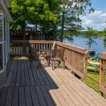 Cabin 9 large deck with a view of the lake