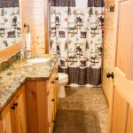 Northwoods Private Vacation Home 2nd lower level bathroom with shower only