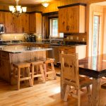Northwoods Private Vacation Home dining area and kitchen on the main level of the home