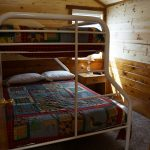 Cabin 5 bunk beds upper twin and lower double