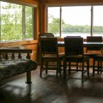 Cabin 4 Dinning room and view of the lake