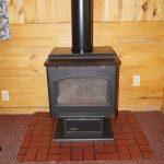 cabin 6 fireplace