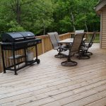North Woods Vacation Home large deck and gas large grill