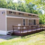 Lakeside Park Model Cabin with deck, fire pit and more.