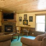 Cabin 14 Reunion Home Living room with gas fireplace