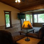 Eagle Trail Living room with lake side view