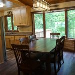 Eagle Trail main level dinning room deck side view