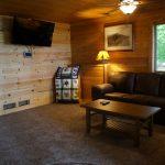 Eagle Trail lower level living room.